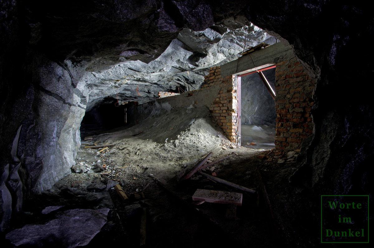 Stollen eines kriegswichtigen Bergbaus