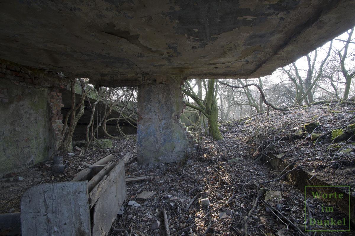 Ruine eines Flugplatzgebäudes