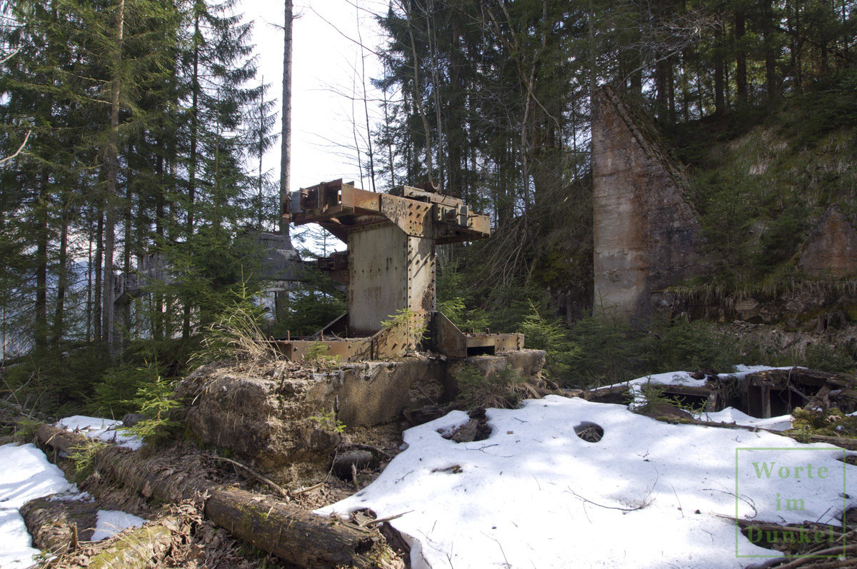 Anlagen der bergbaulichen Materialseilbahn