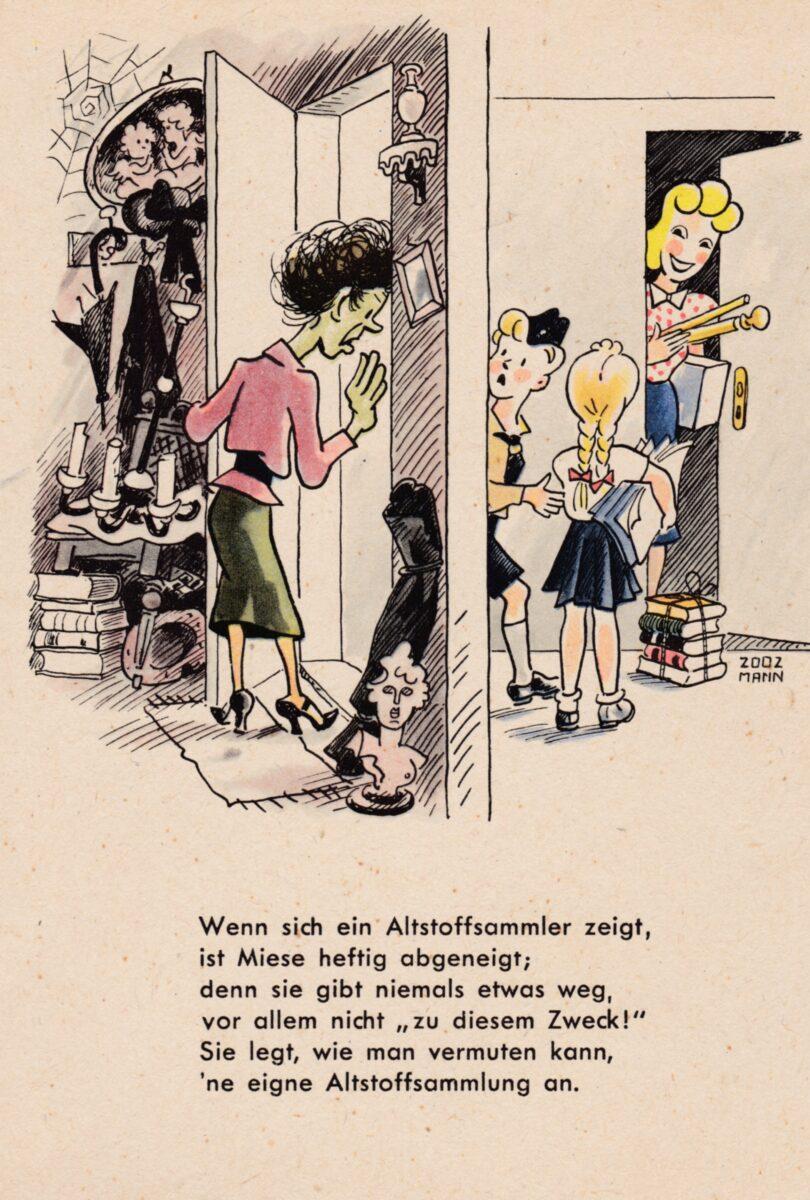 Ansichtskarte – Liese und Miese – Altstoffsammlung