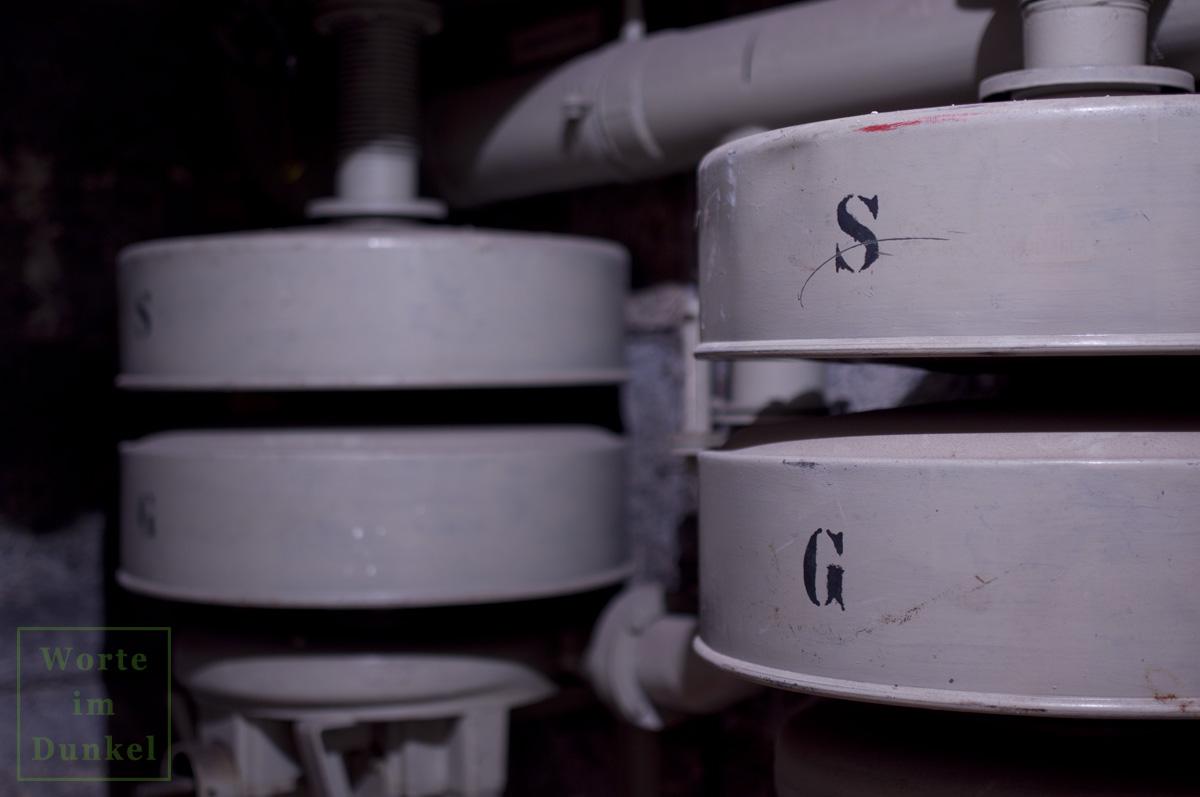 Filter für Schwebstoffe (S) und gasförmige Kampfstoffe (G)