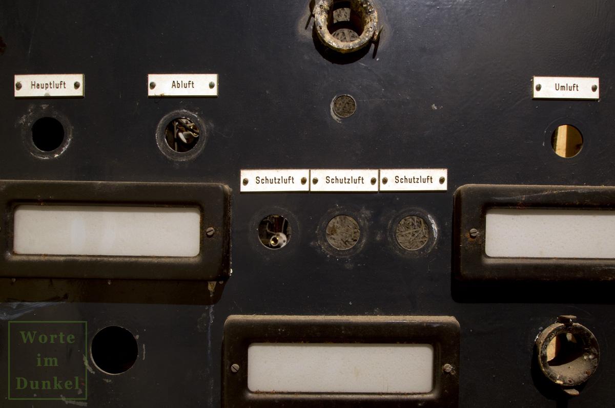 Schalttafel, Detail Luftzufuhr