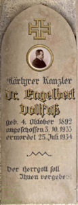 Erinnerungstagel an Engelbert Dollfuß