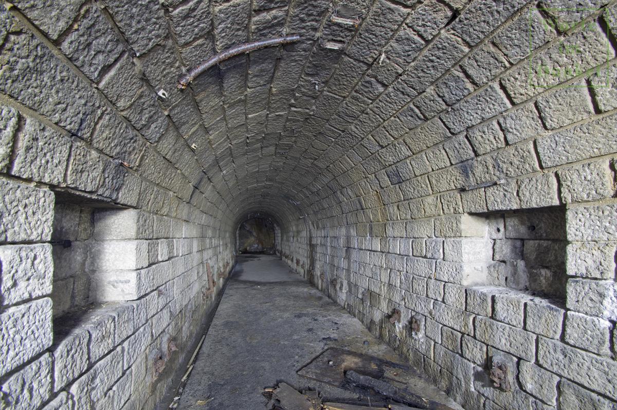 Ansicht des Luftschutzstollens der DESt, für dessen Bau Yakow Kolganow eingesetzt wurde