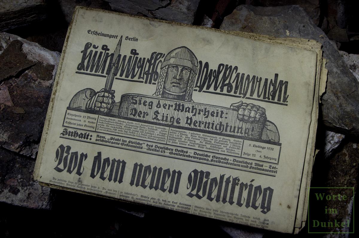 """Leitartikel """"Vor einem neuen Weltkrieg"""""""
