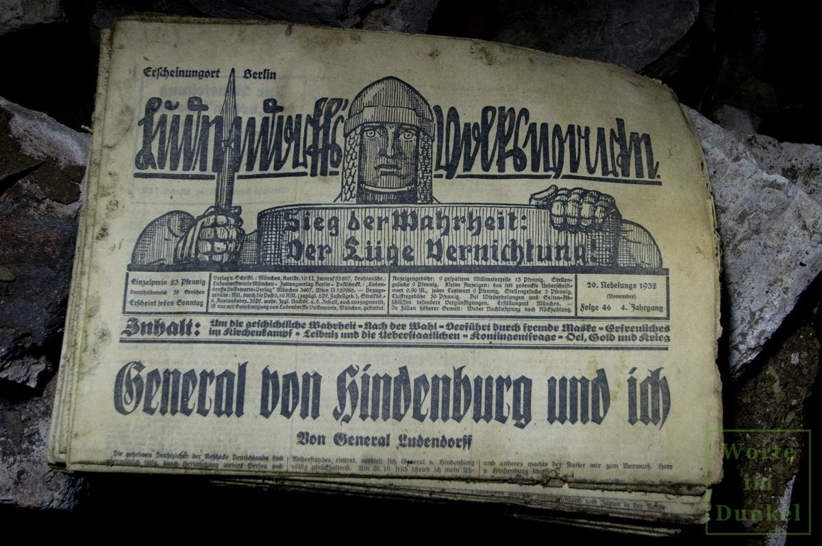 """Leitartikel """"General von Hindenburg und ich"""""""