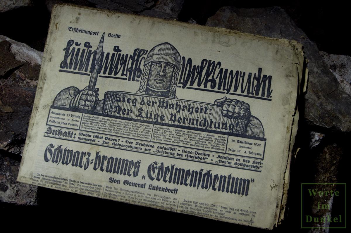 """Leitartikel """"Schwarz-braunes 'Edelmenschentum'"""""""