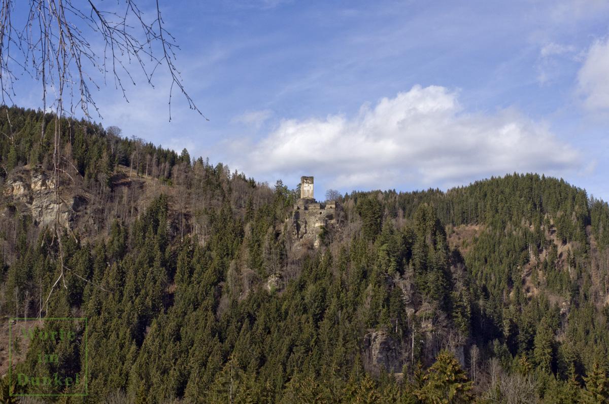 Der Anblick der Ruine Hochkraig bis 2019