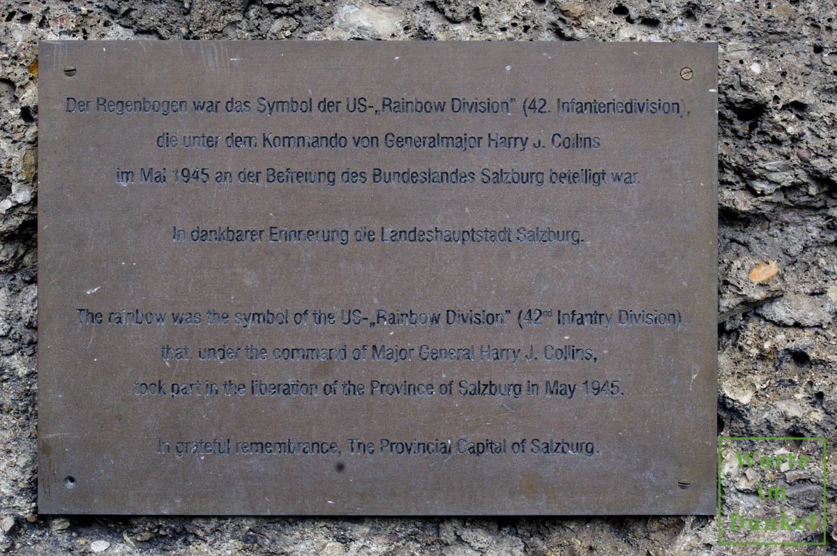 Erinnerungstafel in Salzburg
