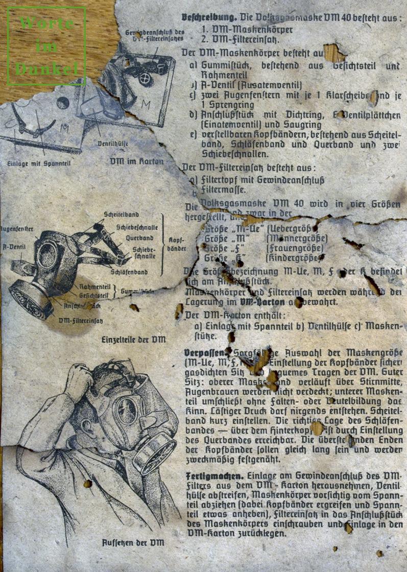 Gebrauchanweisung für die Volksgasmaske – Seite 2