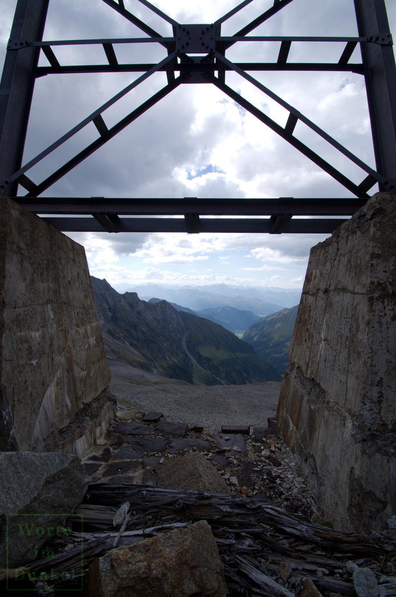 Blick von der Bergstation zur Mittelstation