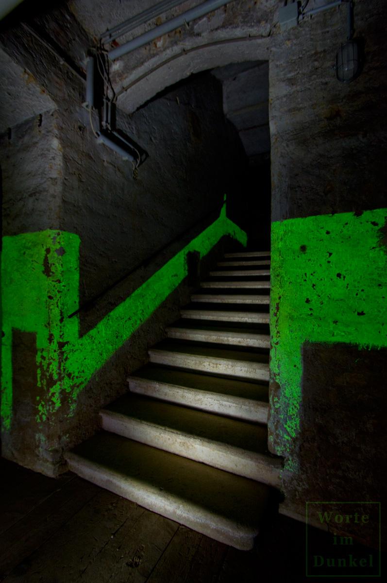 Markierung an einer Treppe