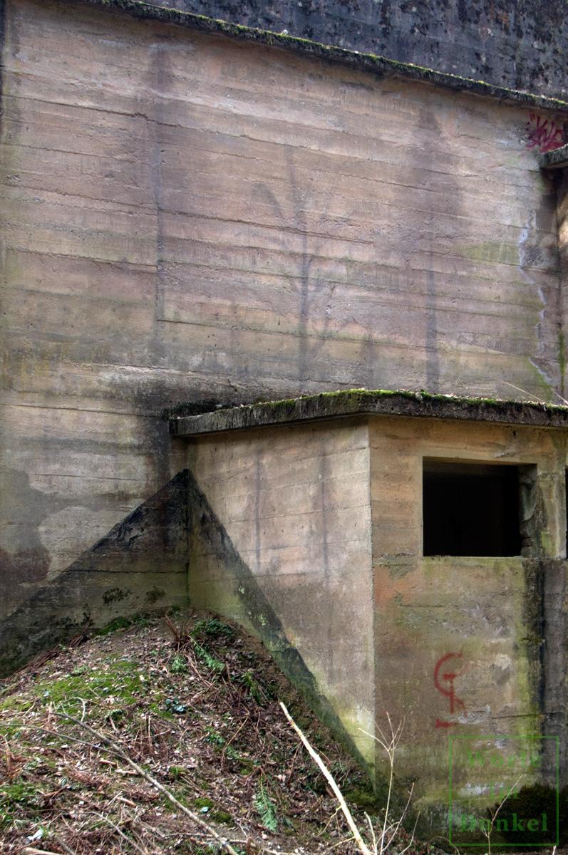 Bemalungen in Form von Bäumen an einer Schießstätte der Wehrmacht
